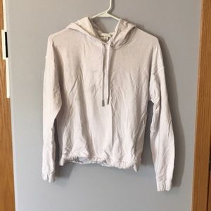 White lululemon cross back hoodie